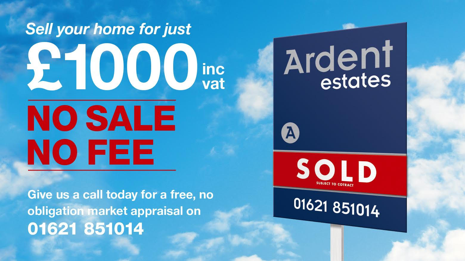 Sell your home for just £1000 . No Sale. No fee. Give us a call today.